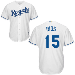 Alex Rios KC Royals Replica Youth Home Jersey Photo