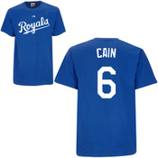Lorenzo Cain T-Shirt - Royal Blue Kansas City Royals Adult T-Shirt