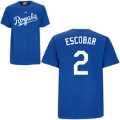 Alcides Escobar T-Shirt - Royal Blue Kansas City Royals Adult T-Shirt