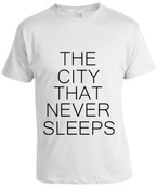 NY The City That Never Sleeps T-shirt -White