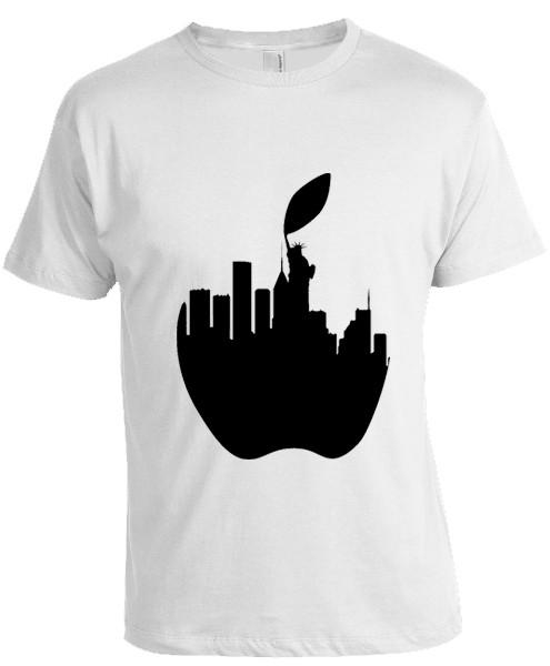 NY Liberty Apple T-shirt -White photo