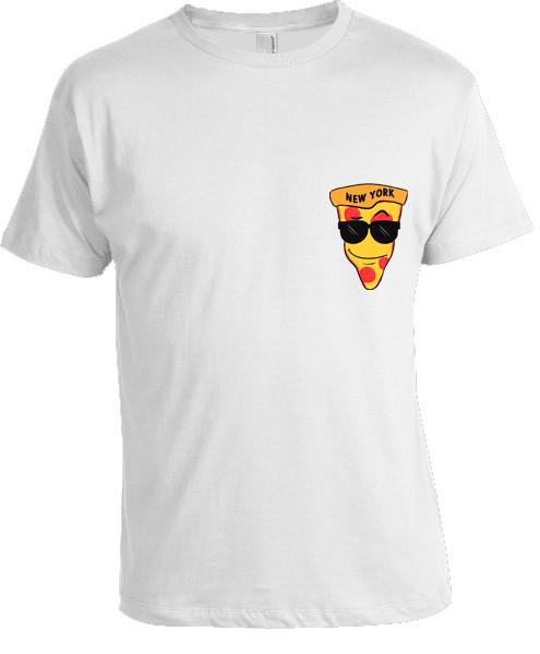 NY loves Pizza T-shirt -White photo