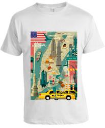 Scenic NY T-shirt -White Photo