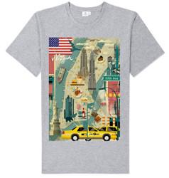 Scenic NY T-shirt -Grey Photo