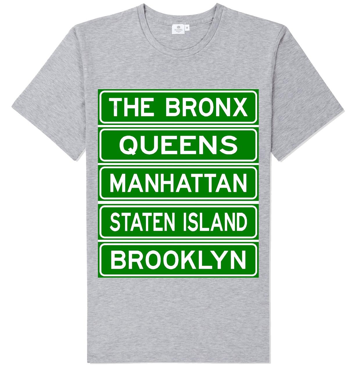 NY Street Sign T-shirt -Grey photo
