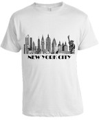 New York City Skyline T-shirt -White