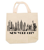 New York City Skyline Canvas Tote Bag