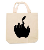 NY Liberty Apple Canvas Tote Bag