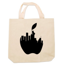 NY Liberty Apple Canvas Tote Bag  Photo