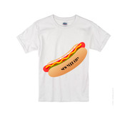 Kids NY Hot Dog T-shirt -White