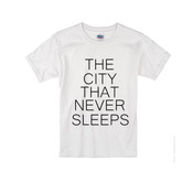 Kids NY The City That Never Sleeps T-shirt -White
