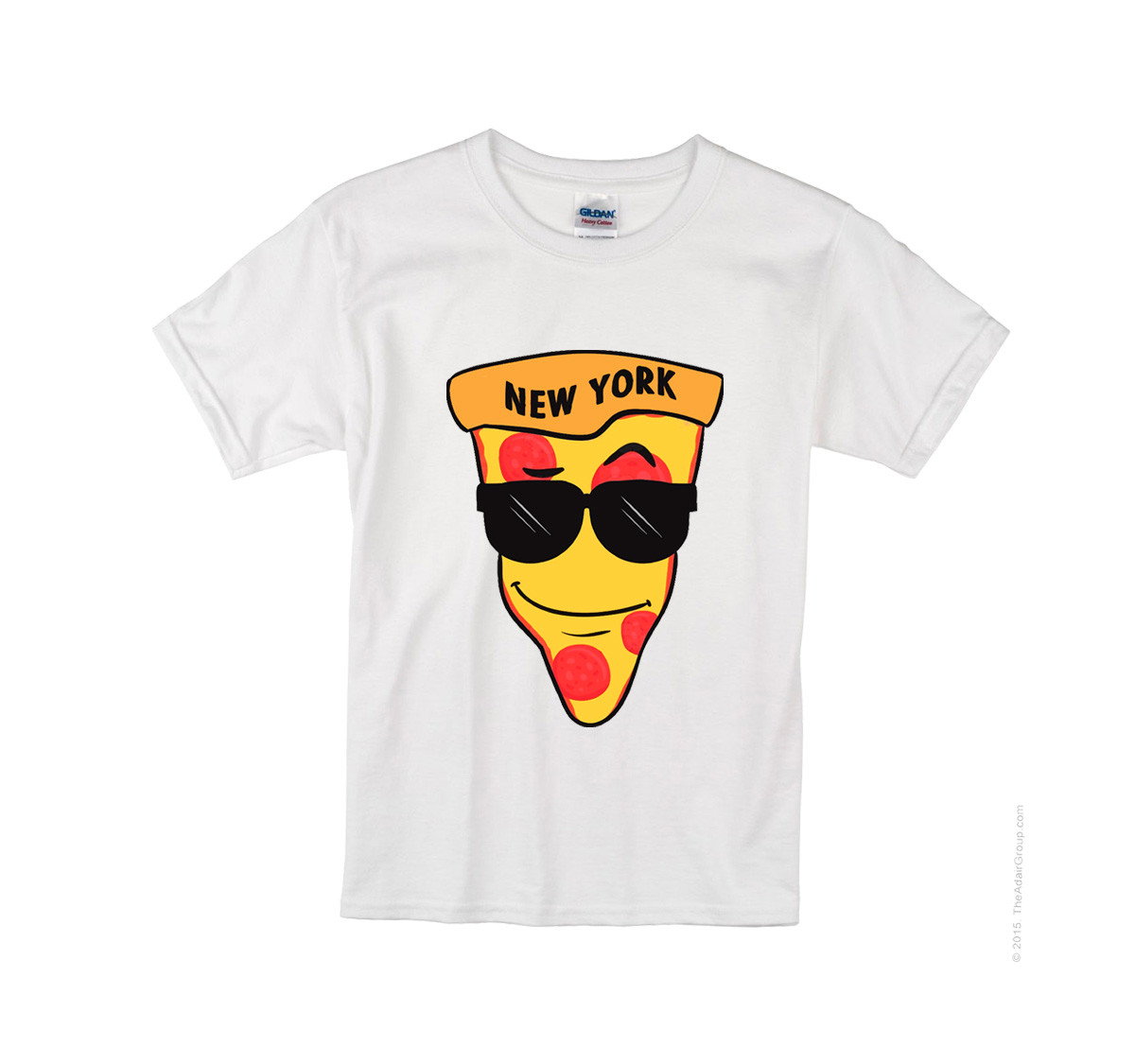 Kids NY Love Pizza T-shirt -White photo