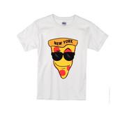 Kids NY Love Pizza T-shirt -White