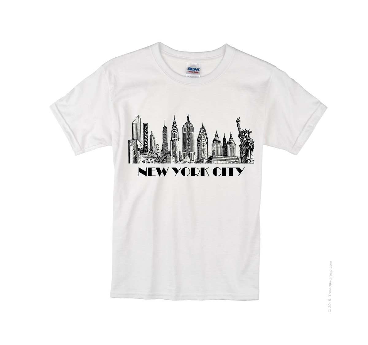 48ff2c8f9 Kids NYC Skyline T-shirt -White Photo. Loading zoom
