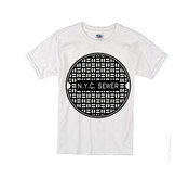 Kids NYC Sewer T-shirt -White