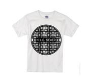 Kids NYC Sewer T-shirt -White