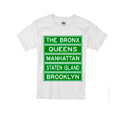 Kids NY Street Signs T-shirt -White