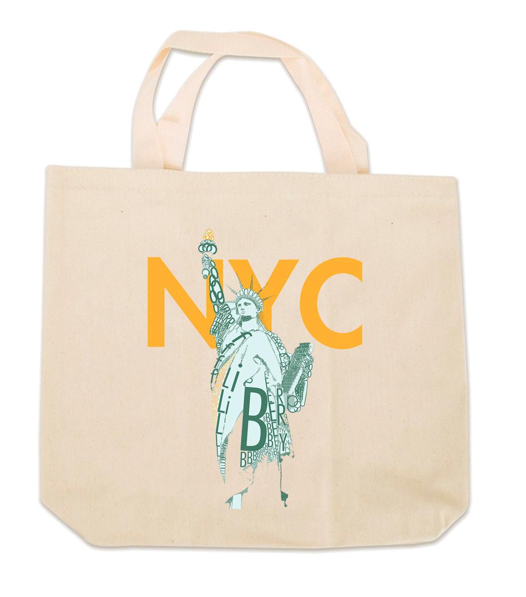 NY Liberty Canvas Tote Bag photo