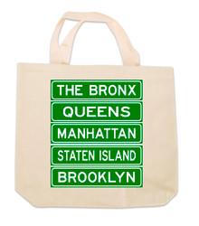 NY Street Signs Canvas Tote Bag  Photo