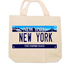 New York License Plate Canvas Tote Bag Photo