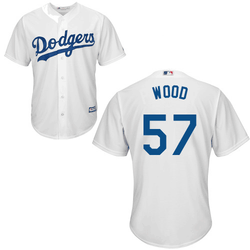 Alex Wood Youth Jersety - LA Dodgers Replica Youth Home Jersey Photo