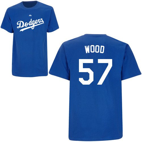 Alex Wood T-Shirt - Royal Blue La Dodgers Adult T-Shirt photo
