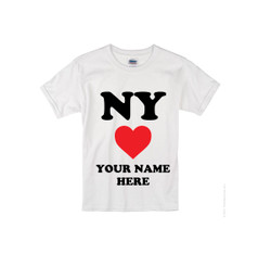 Kids NY Loves Me T-shirt -White Photo