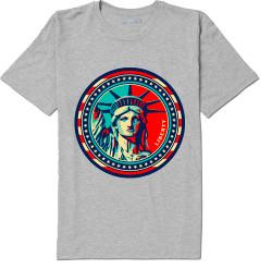 NY Liberty Stamp T-shirt -Grey Photo