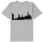 NY Beauty Skyline T-shirt -Grey