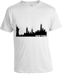 NY Beauty Skyline T-shirt -White  Photo