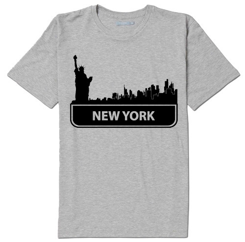 NY Standard Skyline T-shirt -Grey  photo