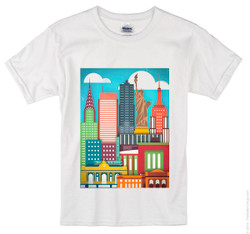Kids Color Me NY T-shirt Photo