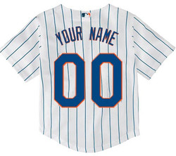 NY Mets Replica Personalized Kids Home Jersey - back Photo