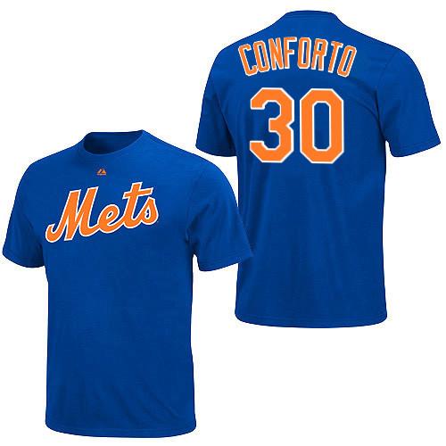 best loved 665ec 2c19b Michael Conforto T-Shirt - Blue New York Mets Adult T-Shirt