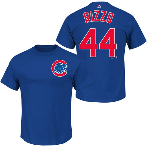huge selection of 7f98a d14e5 Anthony Rizzo T-Shirt - Blue Chicago Cubs Adult T-Shirt