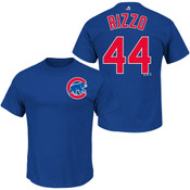 Anthony Rizzo T-Shirt - Blue Chicago Cubs Adult T-Shirt