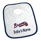 Atlanta Braves Personalized Pullover Baby Bib