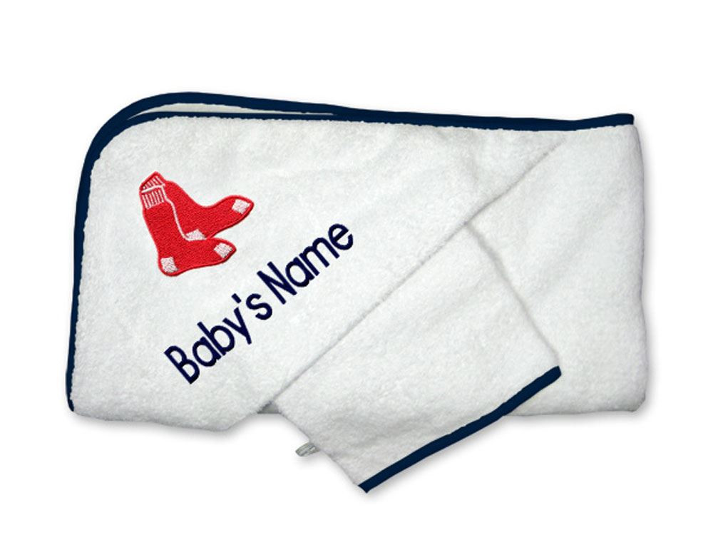 b8377e9ee Boston Red Sox Personalized Towel and Wash Cloth Gift Set