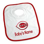 Cincinnati Reds Personalized Pullover Baby Bib