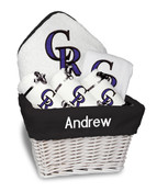 Colorado Rockies Personalized 6-Piece Gift Basket