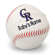 Colorado Rockies Personalized Baseball Pillow