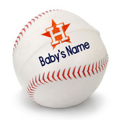 Houston Astros Personalized Baseball Pillow