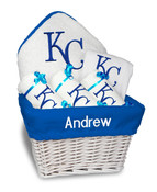 KC Royals Personalized 6-Piece Gift Basket