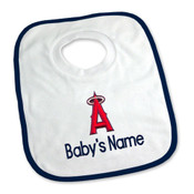 LA Angels Personalized Pullover Baby Bib
