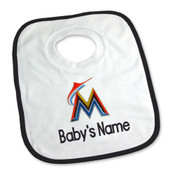 Miami Marlins Personalized Pullover Baby Bib