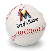 Miami Marlins Personalized Baseball Pillow