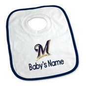 Milwaukee Brewers Personalized Pullover Baby Bib
