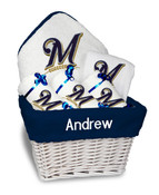Milwaukee Brewers Personalized 6-Piece Gift Basket