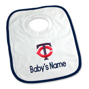 Minnesota Twins Personalized Pullover Baby Bib