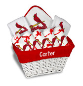 St Louis Cardinals Personalized 9-Piece Gift Basket